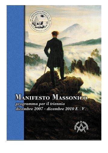 Manifesto Massonico - Programma per il primo triennio