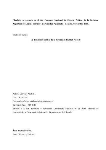 """""""Trabajo presentado en el 6to Congreso Nacional de Ciencia ..."""