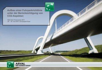 Aufbau Einer Fuhrparkrichtlinie Unter Der Berücksichtigung - Arval