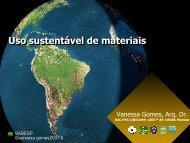 Uso Sustentável de Materiais - Sabesp