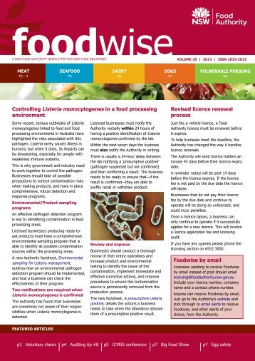 Foodwise volume 29 - NSW Food Authority - NSW Government