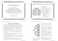 Turbo decoding algorithms Algorithms for Iterative (Turbo) Data ...