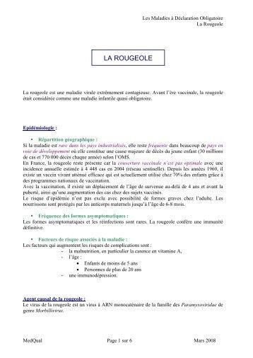 LA ROUGEOLE - MedQual