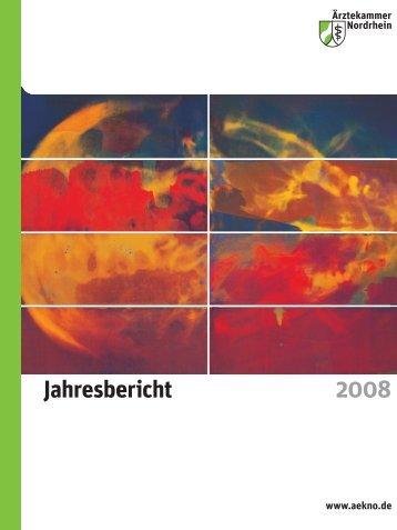 Jahresbericht 2008 - Ärztekammer Nordrhein