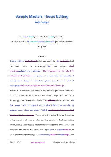Master degree thesis
