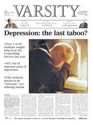 Depression: the last taboo? - Varsity