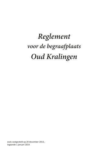 Reglement begraafplaats - Oud-Kralingen