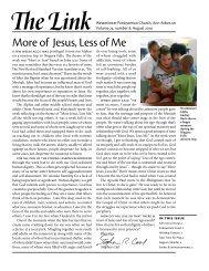 More of Jesus, Less of Me - Westminster Presbyterian Church