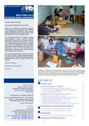 April - Lembaga Penelitian dan Pengabdian kepada Masyarakat - ITB