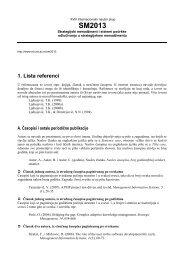 Uputstvo za referenciranje - Ekonomski fakultet Subotica
