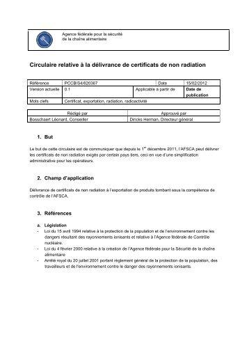 Circulaire relative à la délivrance de certificats de non radiation