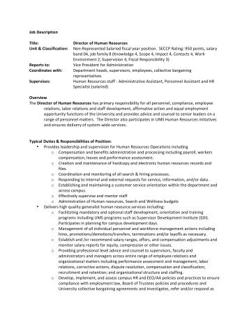 Executive DirectorTemple Administrator Job Description Specific