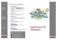 Broschyr - Egenkontroll för företagare - Habo kommun