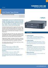 VXA Packet Tape Drives - Tandberg Data
