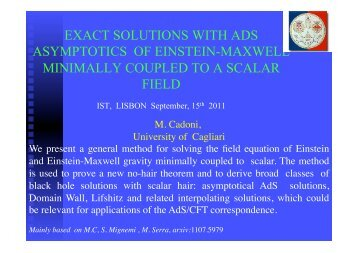 Exact Solutions With AdS Asymptotics Of Einstein-Maxwell - centra