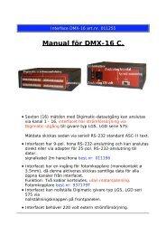 Manual för DMX-16 C.