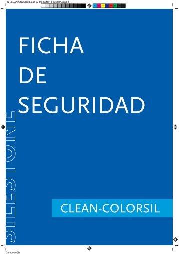 Ficha de Seguridad Clean Colorsil - Silestone