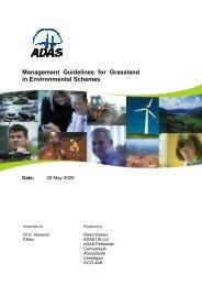 Management Guidelines for Grassland in Environmental ... - Eblex
