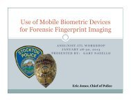 Forensic Fingerprint Imaging - NIST Visual Image Processing Group