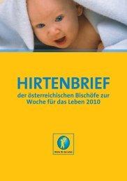 Hirtenbrief zur Woche für das Leben - Diözese Linz