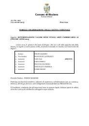 Delibera aree fabbricabili 2013 - Comune di Riccione