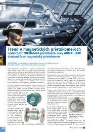 Trend v magnetických prietokomeroch - ATP Journal