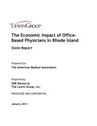 The Economic Impact of Office- Based Physicians in Rhode Island