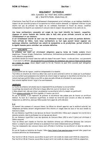 REGLEMENT INTERIEUR DES CLASSES DU POST.pdf