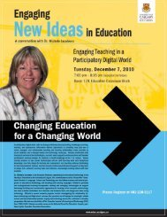 New as in Education - Faculty of Education