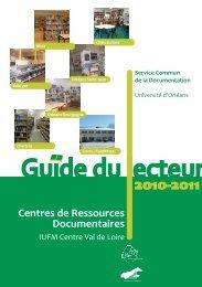 Les Centres de Ressources Documentaires (CRD) - IUFM