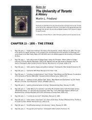 Notes to Chapter 15 - University of Toronto Press Publishing