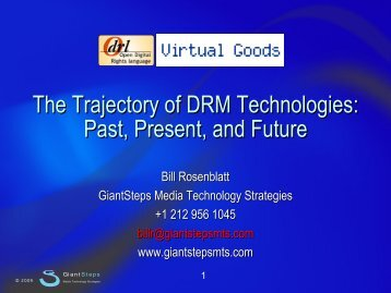 The Trajectory of DRM Technologies: Past, Present ... - Virtual Goods
