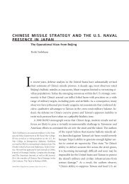 Chinese Missile Strategy and the U.S. Naval Presence in Japan