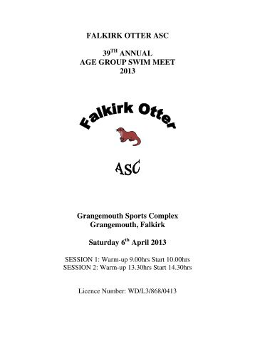 FALKIRK OTTER ASC 39 ANNUAL AGE GROUP ... - Swim Scotland