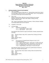 BOE Minutes Open Session Regular & Reorg Meeting May 7, 2013 1