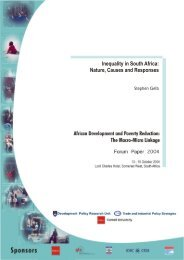 Inequality in South Africa: Nature, Causes and Responses - tips