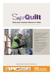 Multi-layer Insulation Blanket for Walls - Yorkshire Building Services ...