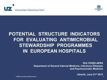 potential structure indicators for evaluating antimicrobial ... - SWAB