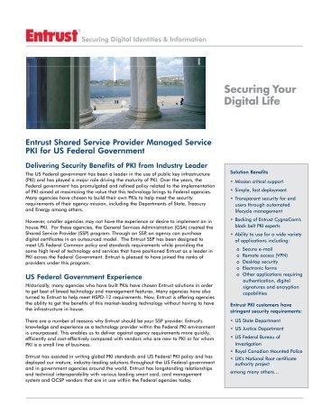 Shared Service Providers - Entrust
