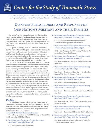 Disaster Preparedness and Response for Our Nation's Military and ...