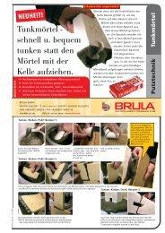 Tunkmörtel - schnell u. bequem tunken statt den ... - BRULA GmbH