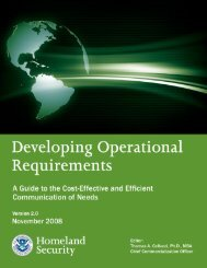 Developing Operational Requirements - U.S. Department of ...
