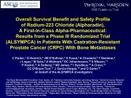 Overall survival benefit of radium-223 chloride (Alpharadin™) in the ...