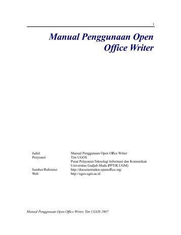 Manual Penggunaan Open Office Writer - fileserver
