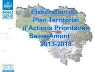 Elaboration du Plan Territorial d'Actions Prioritaires Seine-Amont ...