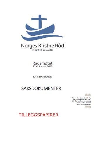 Ettersendte sakspapirer - Norges Kristne Råd