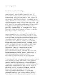 Michael Müller Verlag - Newsletter August 2004