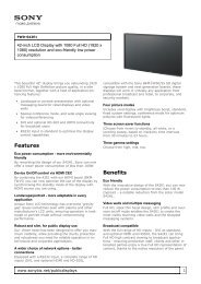 Sony : odwp.product_information.title : FWD-S42E1 ... - ELVIA Display