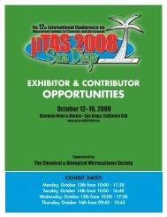 Exhibitor Contract - MicroTAS Conferences