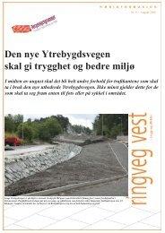 Den nye Ytrebygdsvegen skal gi trygghet og ... - Statens vegvesen